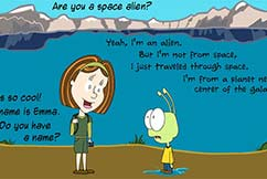 Webcomic Emma And The Alien Comic Strip 005 First Contact Featured